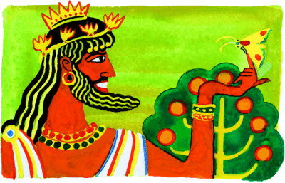 мотылёк и царь