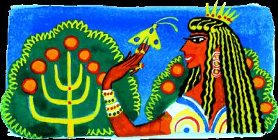 мотылеё и жена царя