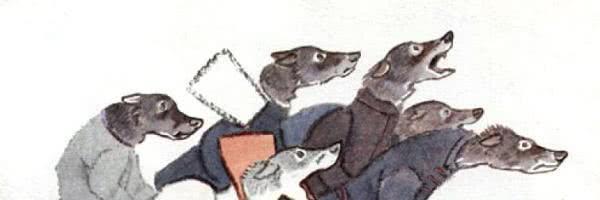 Напуганные волки — русская народная сказка
