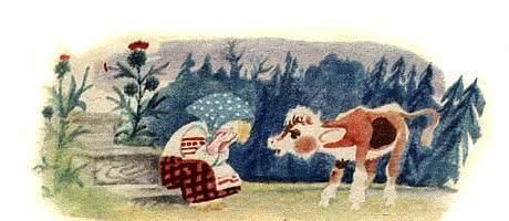 Бычок – чёрный бочок, белые копытца — русская народная сказка