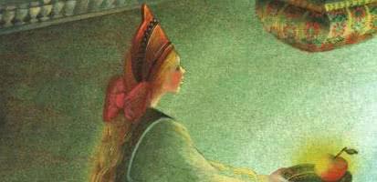 Серебряное блюдечко и наливное яблочко — русская народная сказка