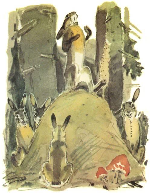фантазии картинка сказка про храброго зайца длинные уши косые глаза куст для приживления
