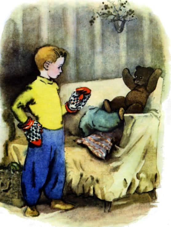 Дениска с мишкой