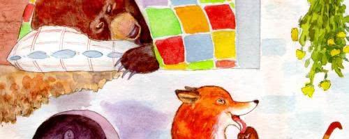 Лиса и медведь — русская народная аудиосказка