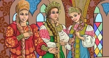 О трёх царских дочерях — русская народная аудиосказка