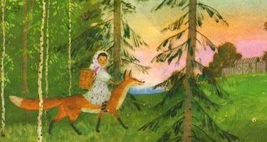 Снегурушка и лиса — русская народная аудиосказка
