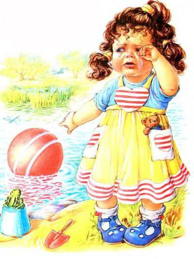 Наша Таня громко плачет: Уронила в речку мячик. — Тише, Танечка, не плачь: Не утонет в речке мяч.