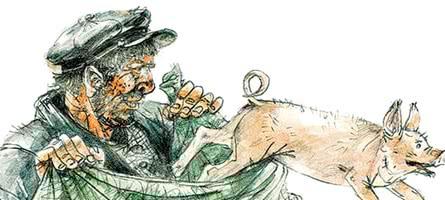 Глупый вор и умный поросенок — рассказ Зощенко