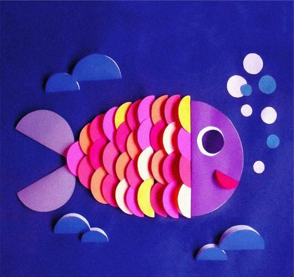 Картинки детская аппликация из цветной бумаги