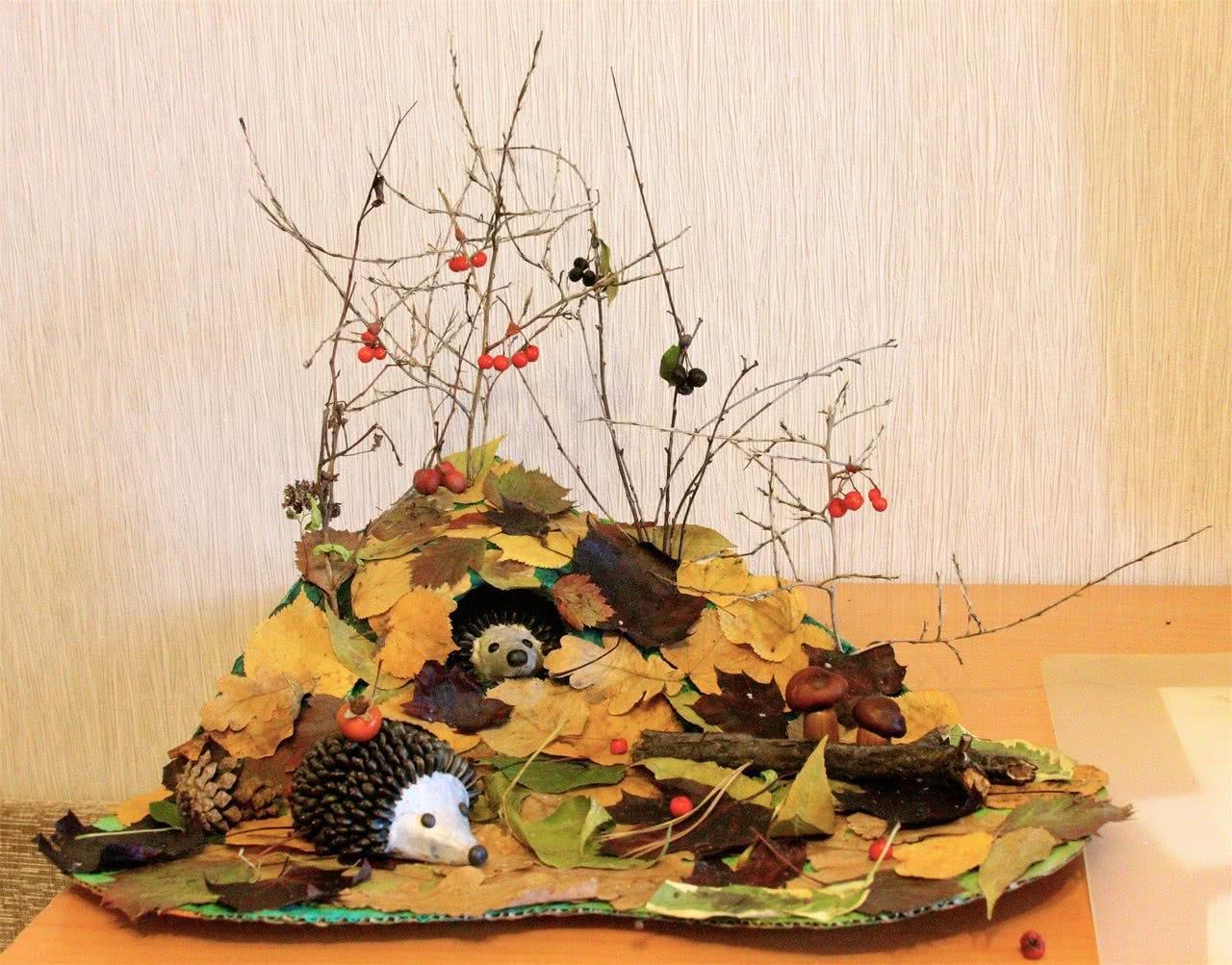 Осенние поделки в садик в картинках