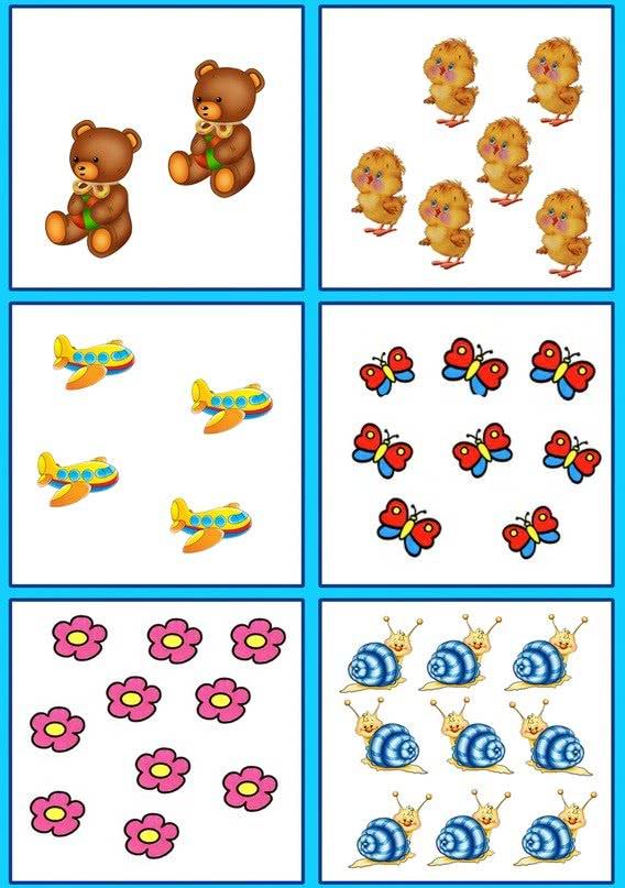 Картинки на счет предметов для детей