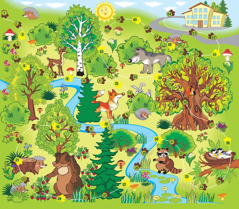 В лесу - игра-ходилка