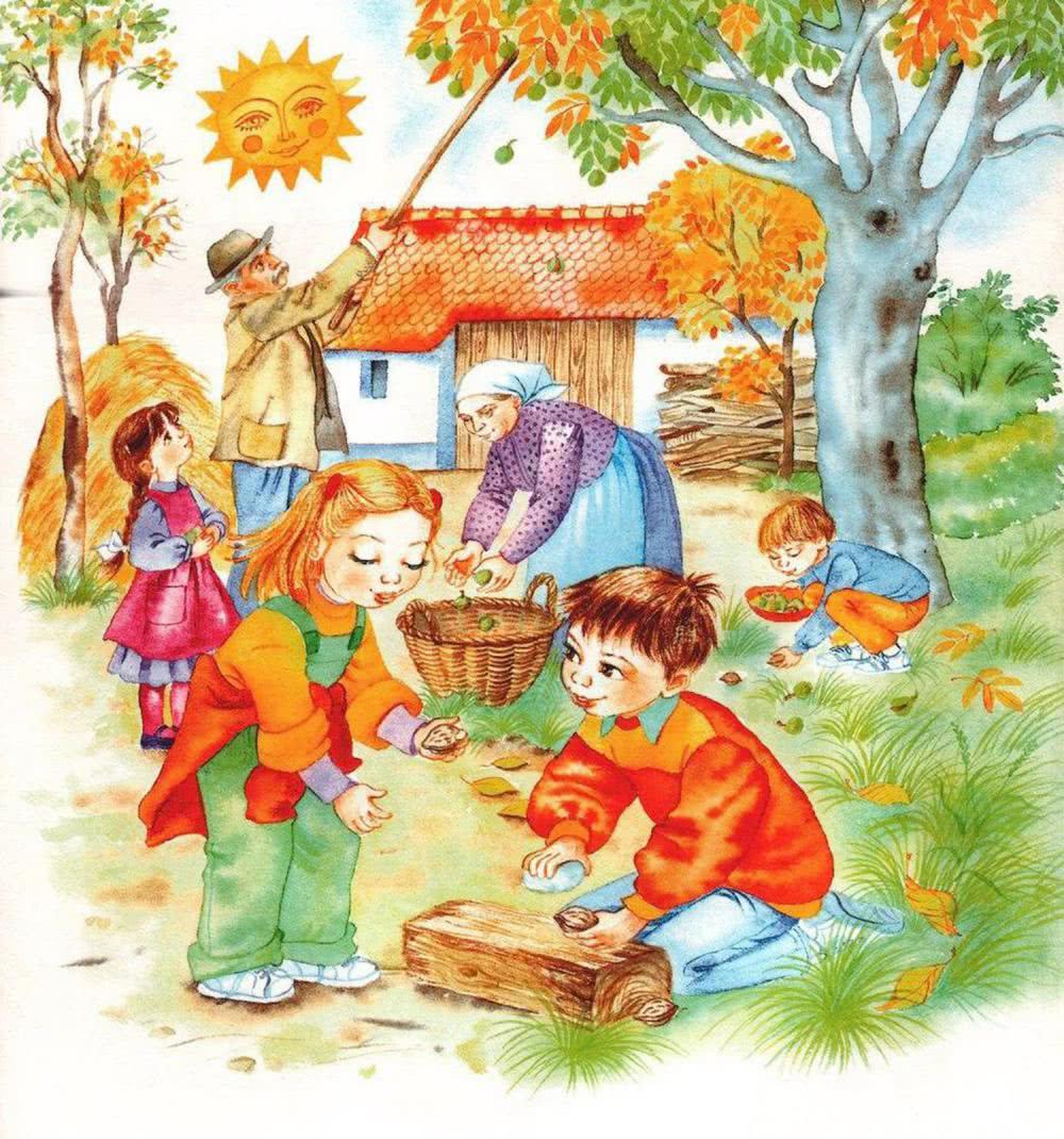 Изображение осени в детских картинках