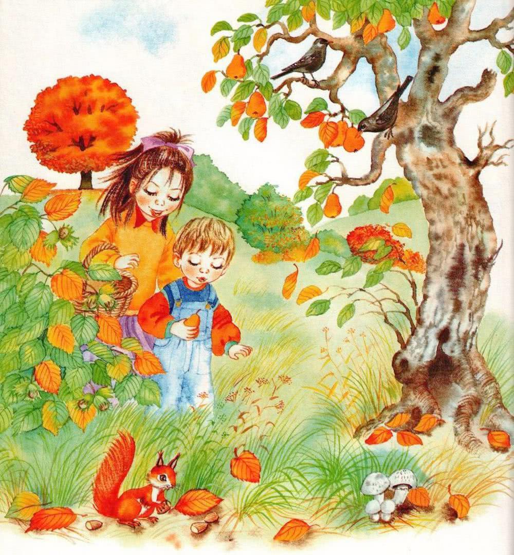 Осень картинки для детей дошкольного возраста, хочу сильно