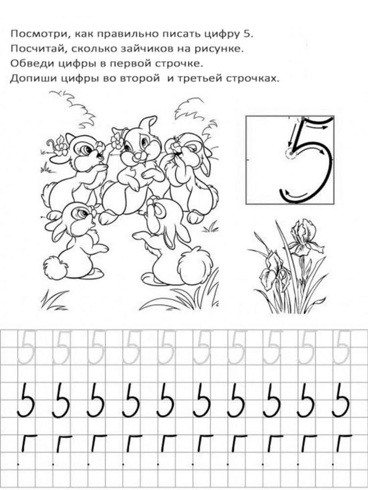 Картинка как писать цифру