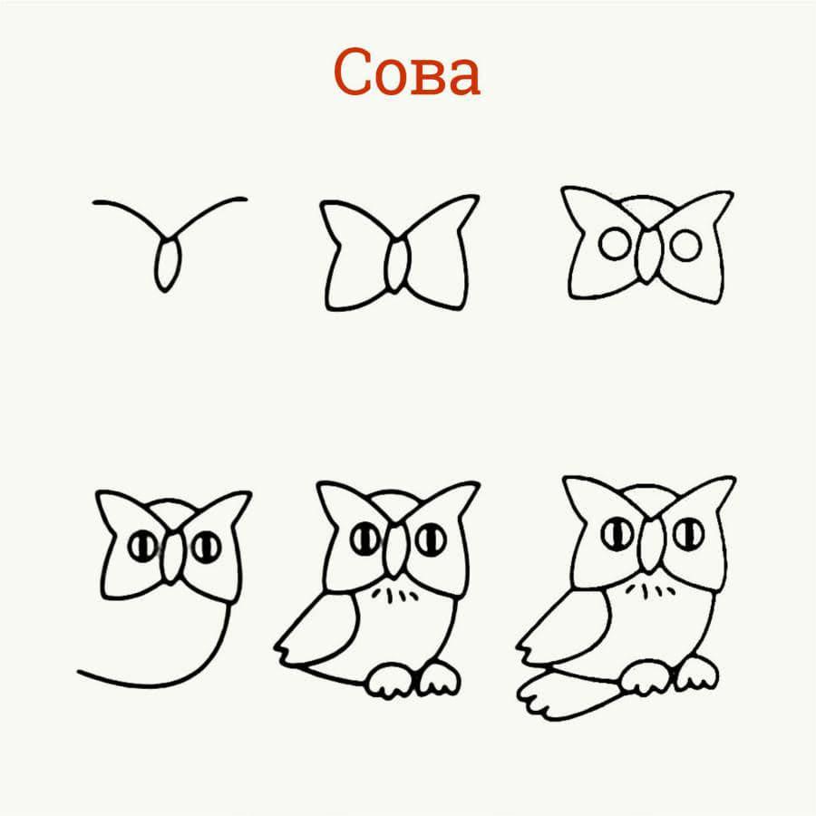 Рисуем животных простым карандашом