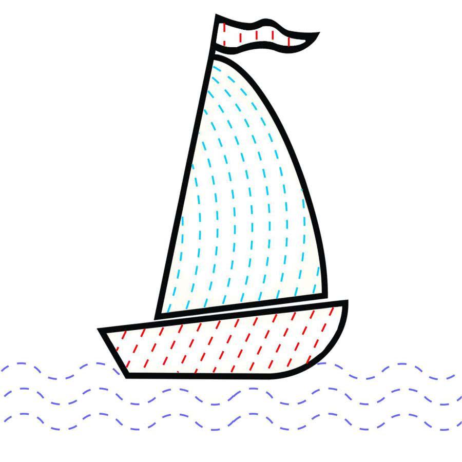 сделать картинка кораблика с парусом для рефлексии фотографии