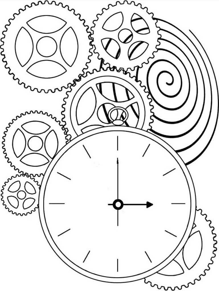 картинки раскраски часов разной формы товара