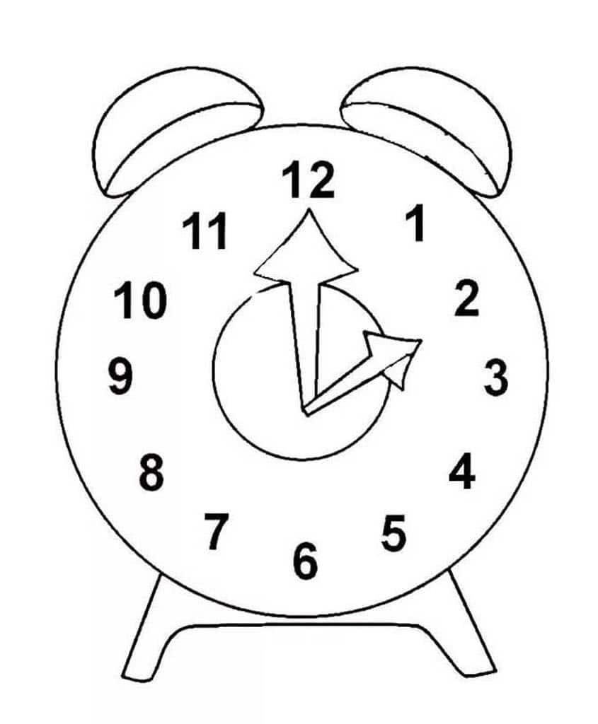 сейчас картинки раскраски часов разной формы сам