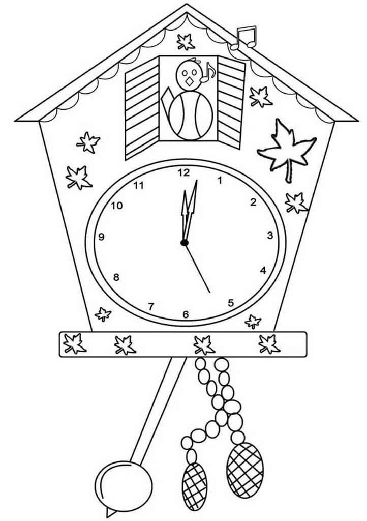 сведения картинки раскраски часов разной формы это
