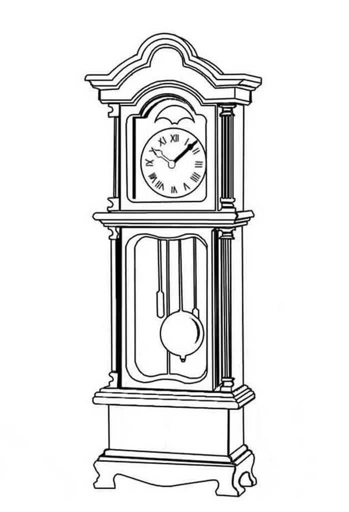 ищут картинки раскраски часов разной формы известно