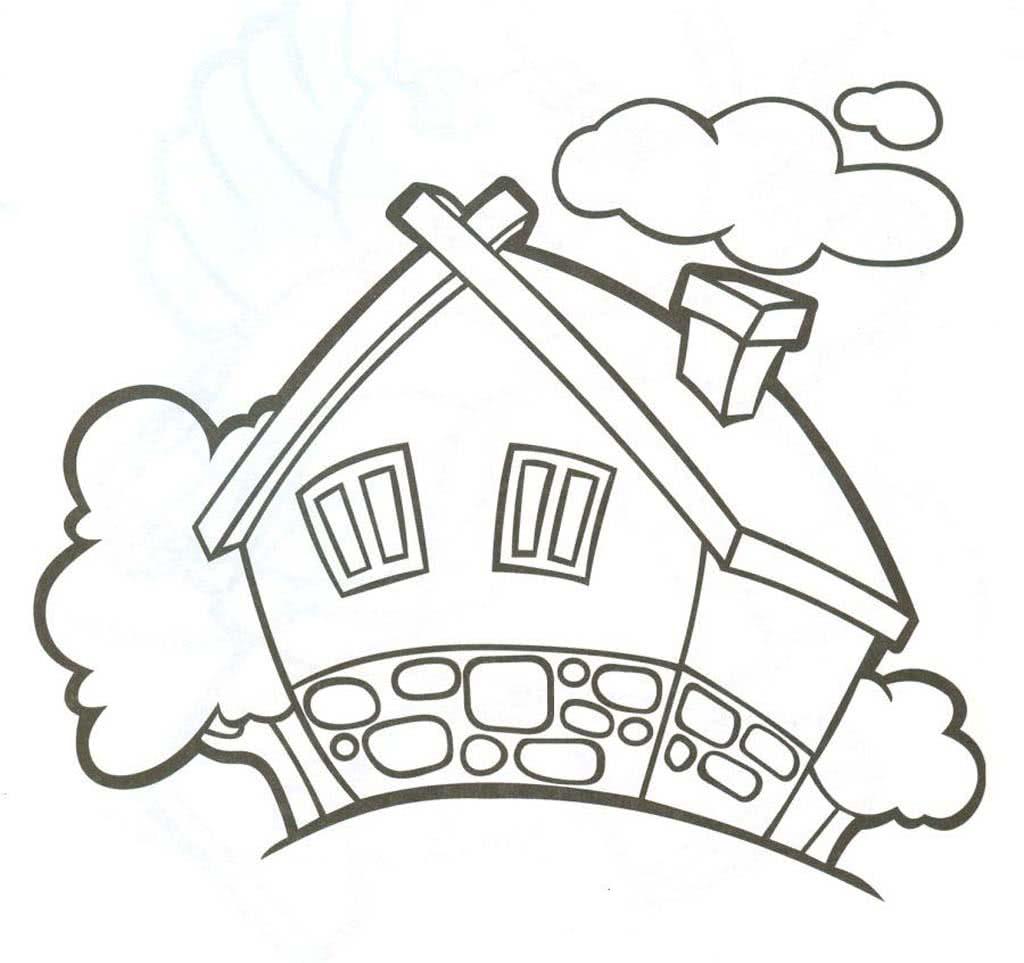 Раскраски Дома