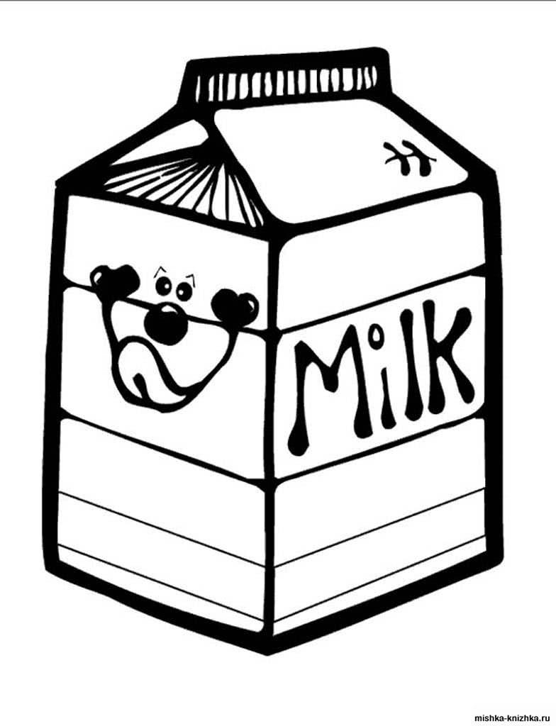 Раскраски Еда для детей. Раскраски с продуктами и блюдами.