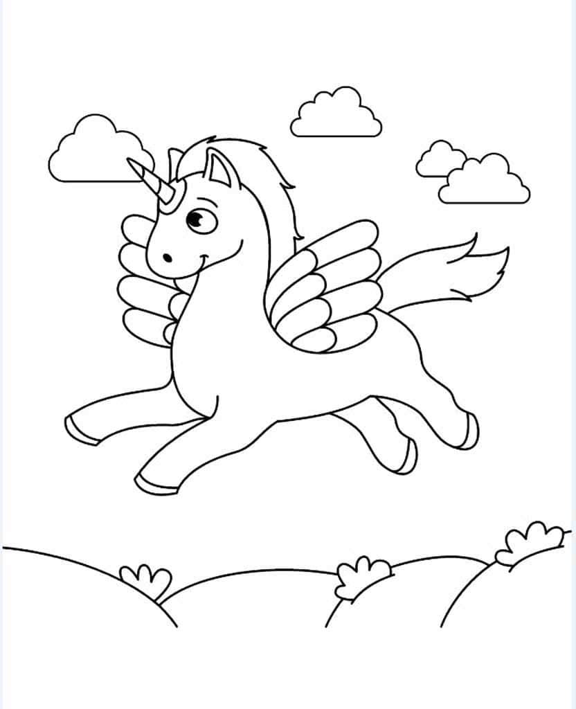 Раскраски Единороги. Раскраски для девочек 5-10 лет.