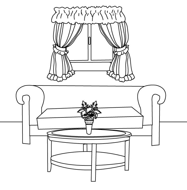 приносят картинки раскраски дом мебель обои