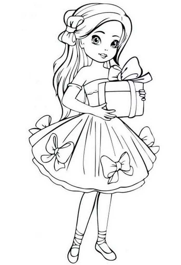 Раскраски Куклы для девочек