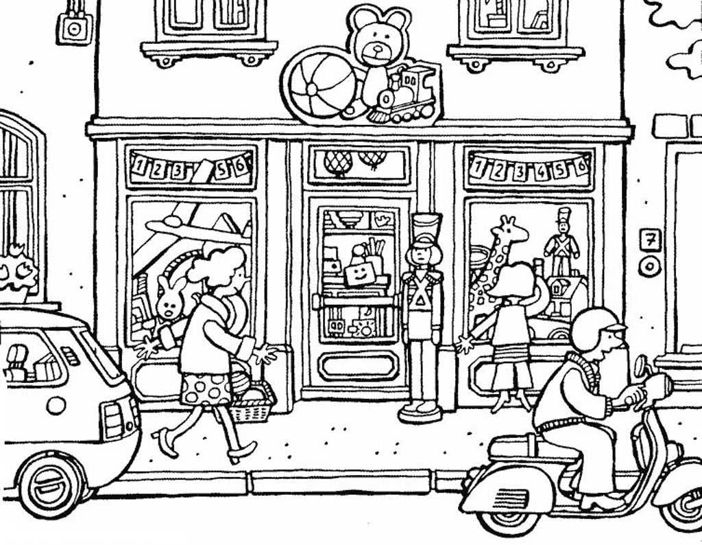 Раскраски Магазин