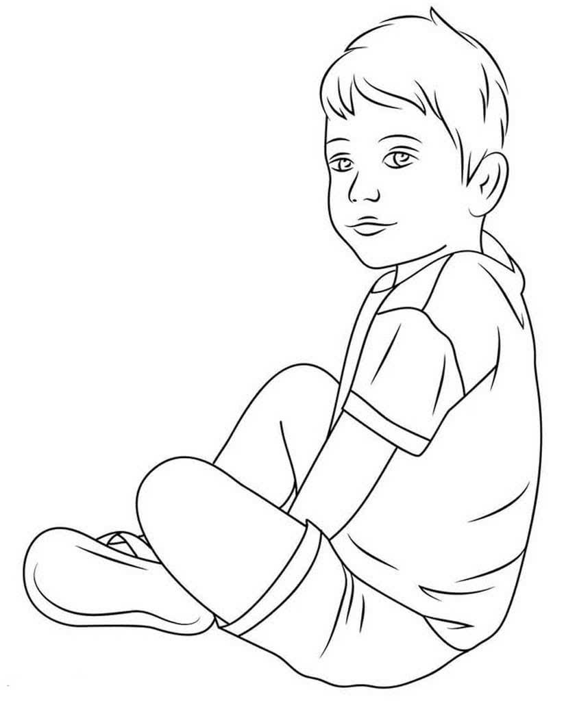 Мальчик для раскрашивания