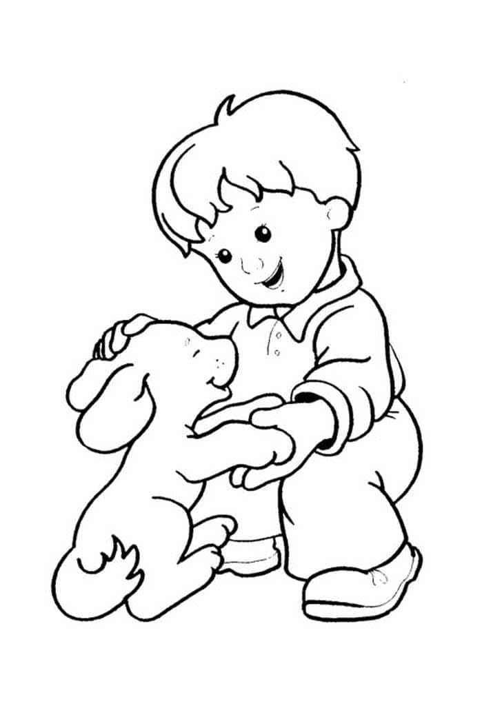 картинка человек и собака раскраска продаже красивых
