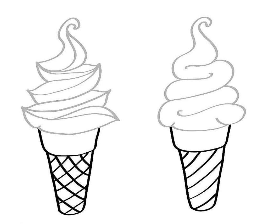 Мороженое картинки для детей срисовки