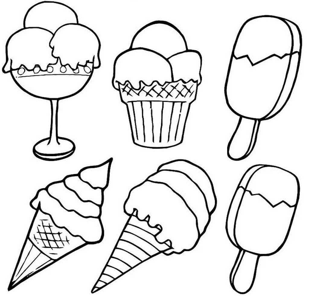 Раскраски Мороженое