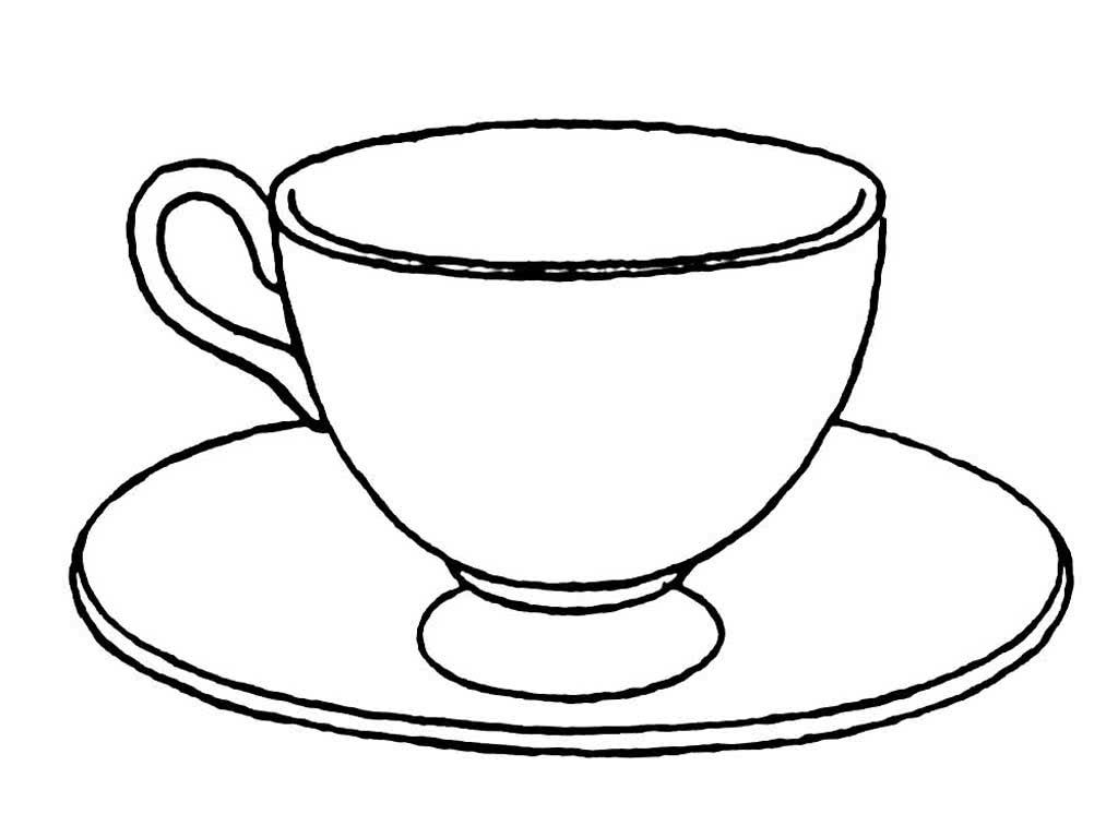 картинки раскраски чашки