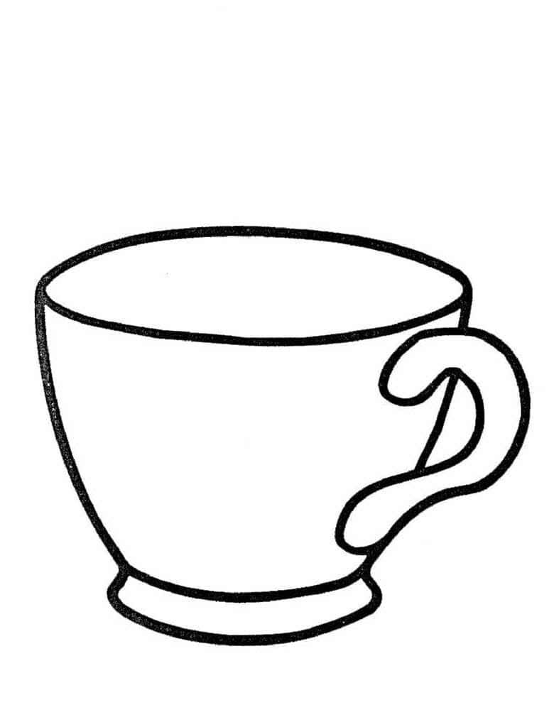 Раскраска кружки чашки