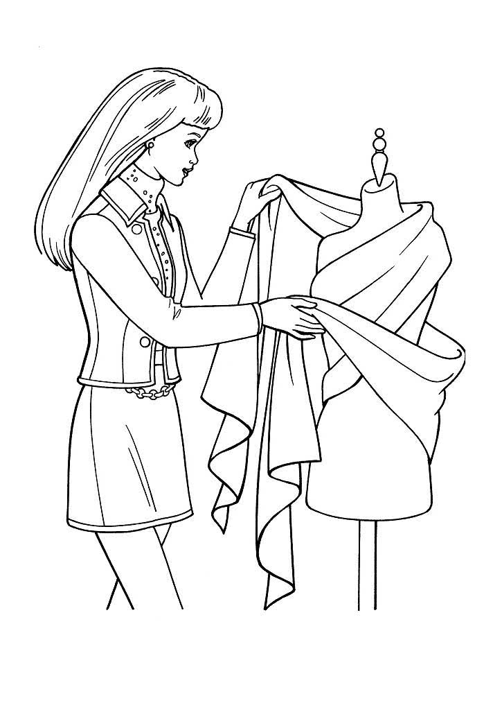 раскраска дизайнер одежды картинки этой странице