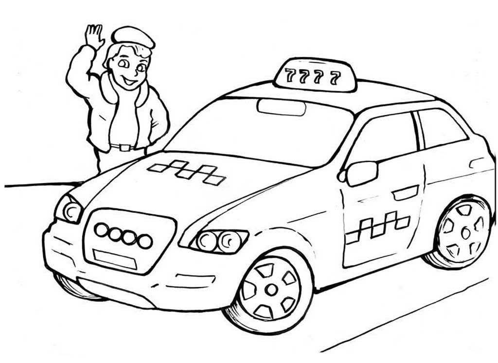Профессия водитель раскраска