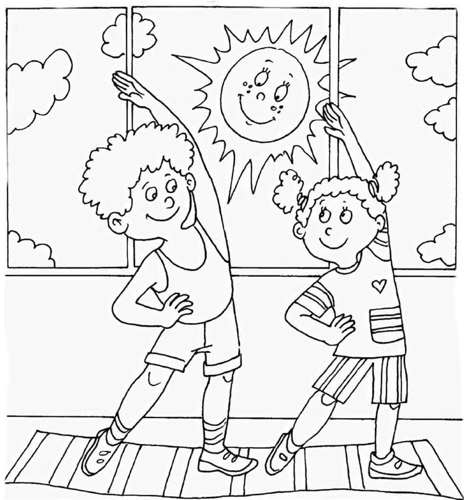 Раскраски Распорядок дня. Раскраски про детей.