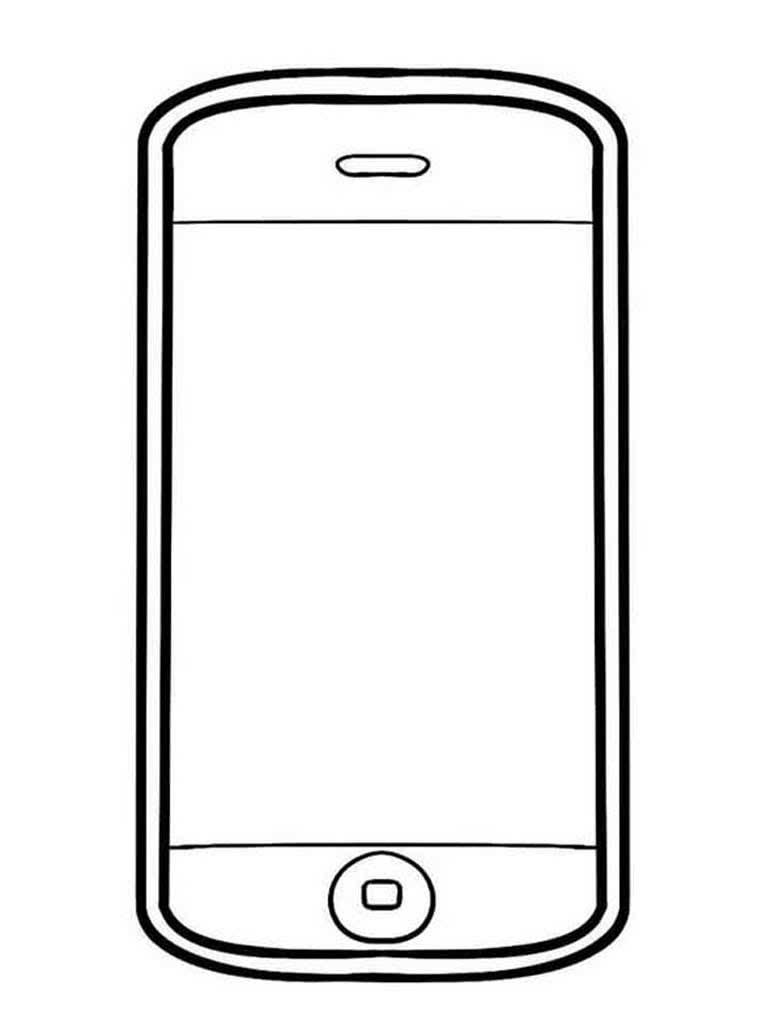 Картинки для раскраски телефона