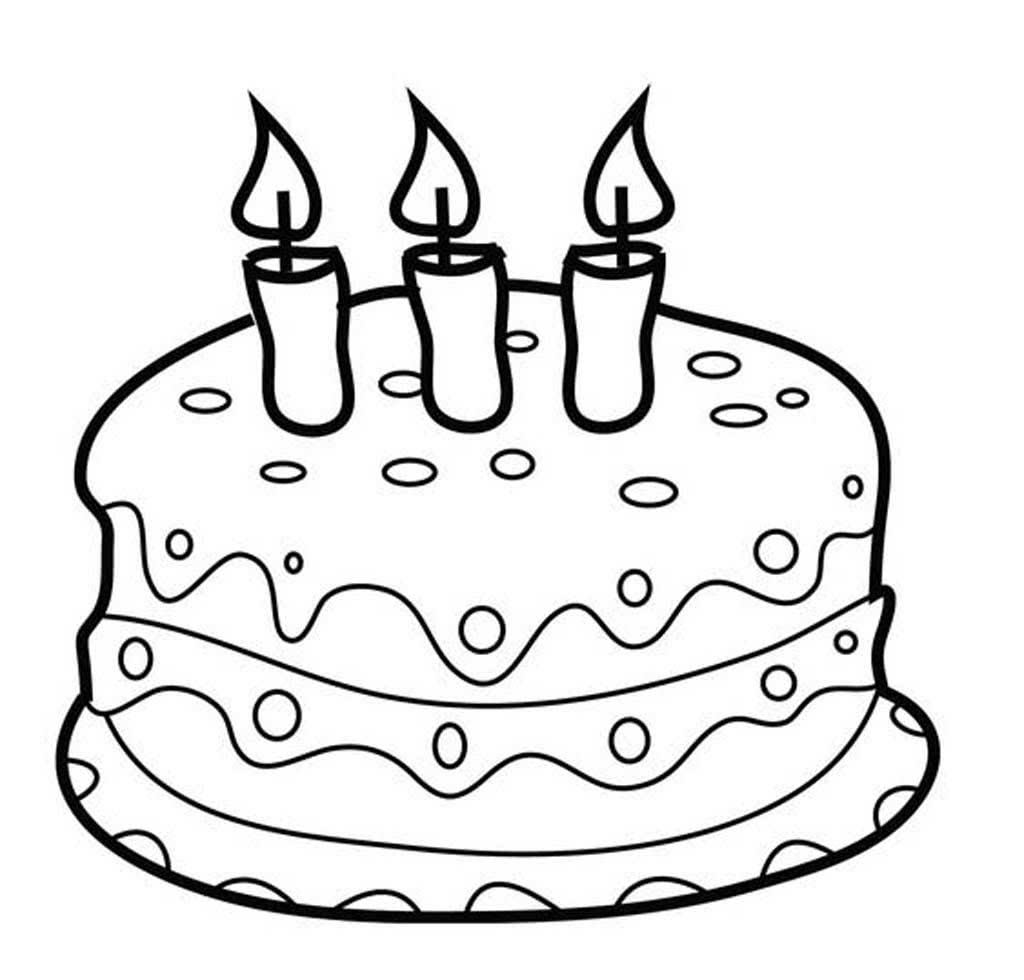 Картинка тортика разукрашка