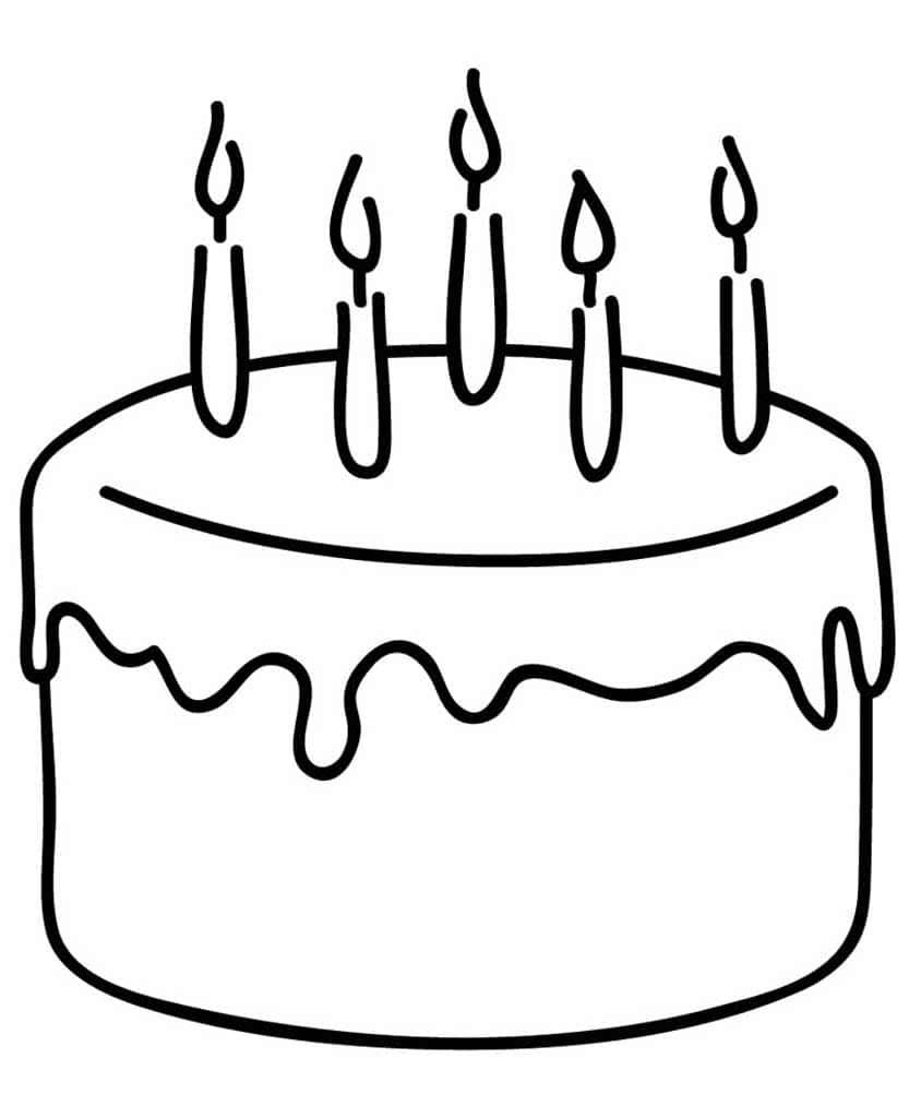 Тортик рисунок раскраска