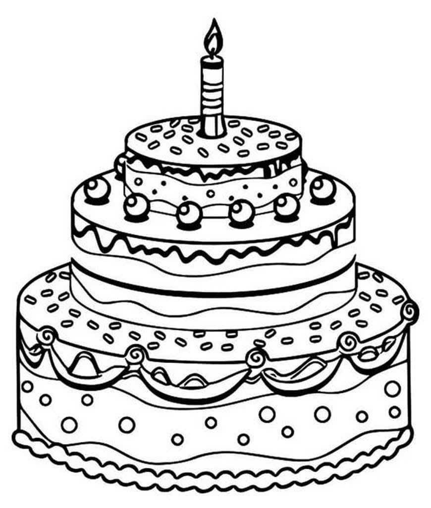 Для девочки, открытка торт рисунок