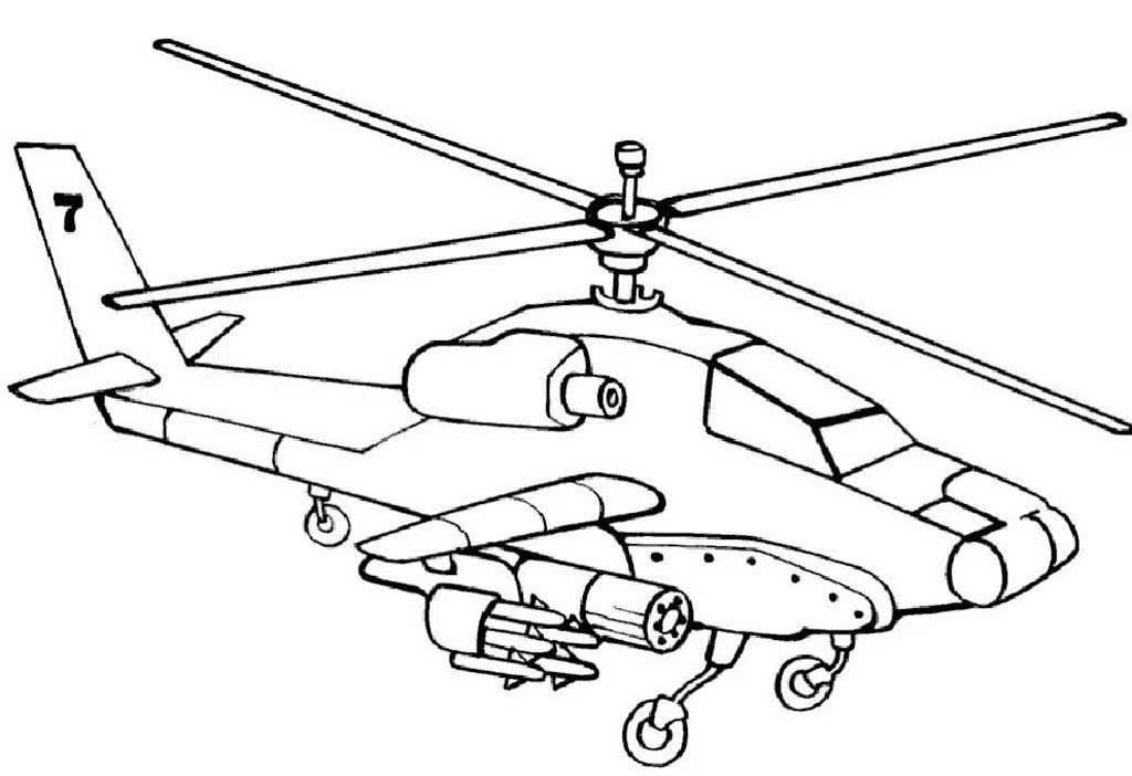 Картинки вертолета для детей раскраски