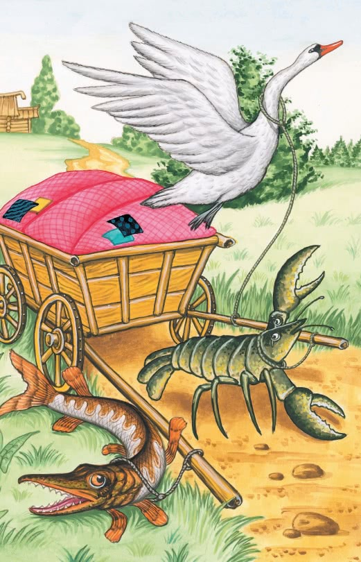 Лебедь, Рак и Щука — басня Крылова