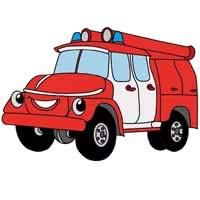 Раскраски Пожарные машины