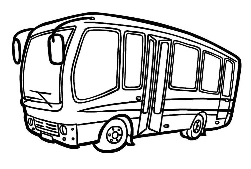 картинки автобусов для раскраски слой
