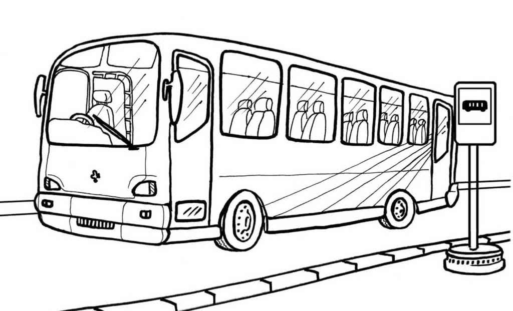 картинки разукрашки автобус самовары очень
