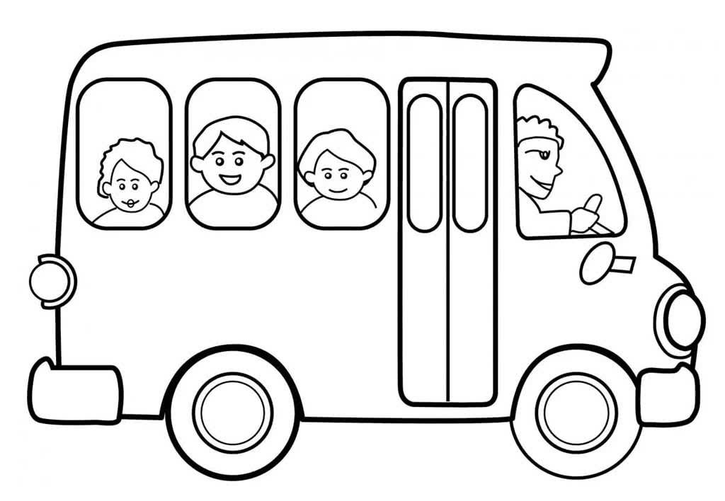 картинка автобуса для раскрашивания обои для